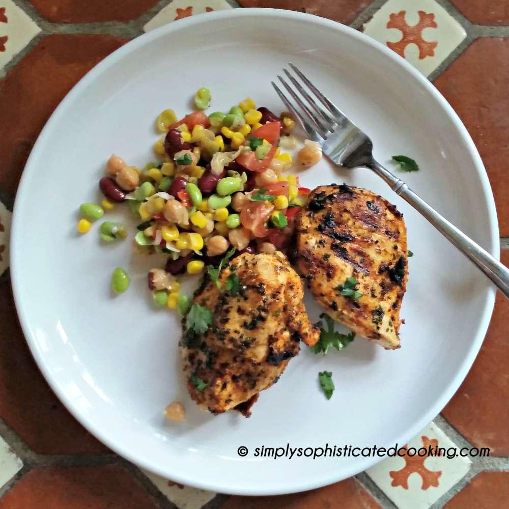 Grilled Chicken and Three Bean Salad 2 wm