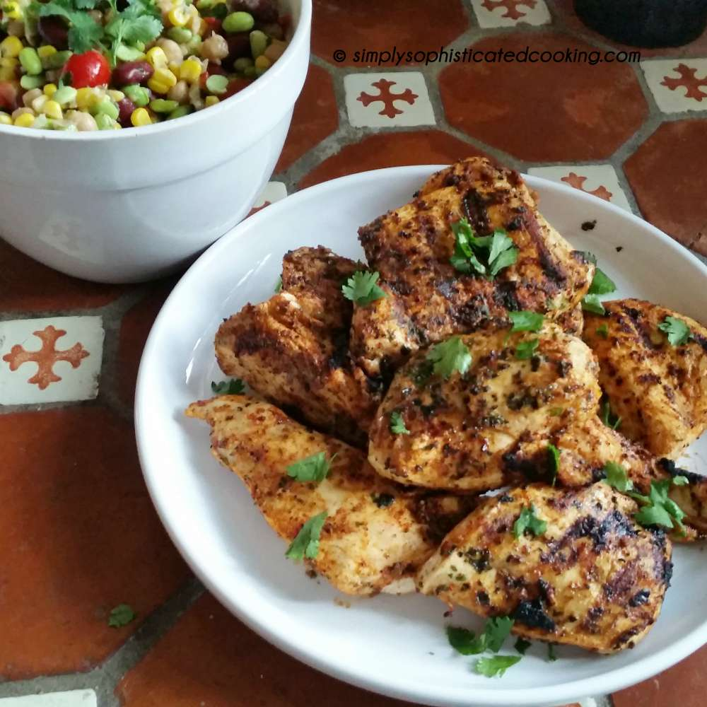 Grilled Chicken with Chili Lime Cilantro Marinade