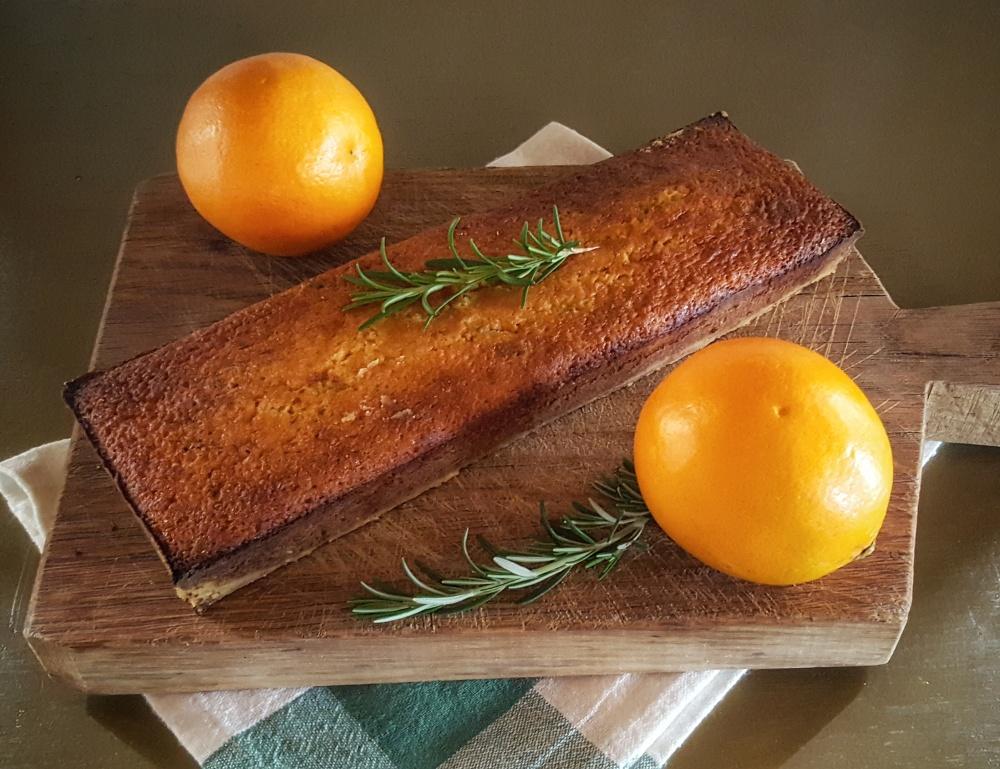 Orange Rosemary Olive Oil Cake