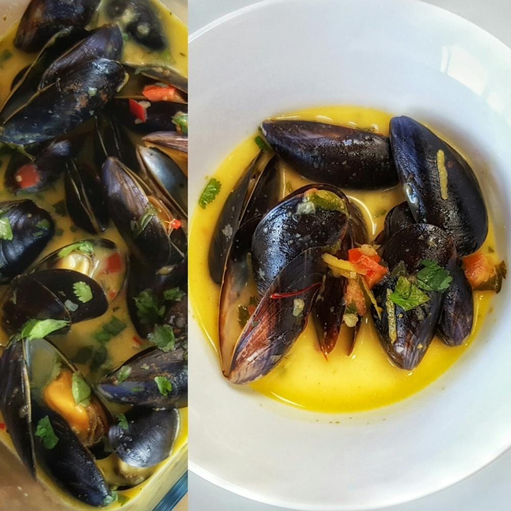 Mussels in Saffron White Wine Sauce